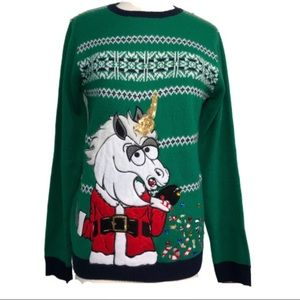 Jolly Sweaters Ugly Christmas Jumper Unicorn